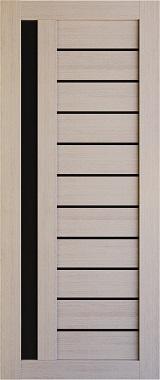 Дверь межкомнатная , Техно 14, 80, капучино, стекло черное Самострой stroi-base.ru