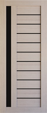 Дверь межкомнатная , Техно 14, 90, капучино, стекло черное Самострой stroi-base.ru