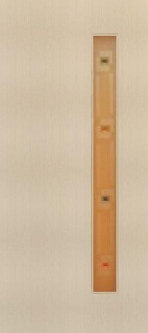 Дверь межкомнатная  ламинированная, Тип 3, 90, беленый дуб, стекло с фьюзингом Самострой stroi-base.ru