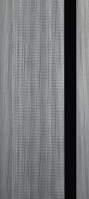 Дверь межкомнатная Палермо 3D, Стекло черное, Дуб пепельный Самострой stroi-base.ru