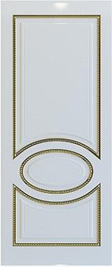 Дверь межкомнатная Неаполь, Глухая, Эмаль белая/Патина золото stroi-base.ru