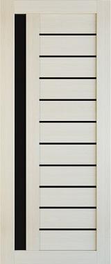Дверь межкомнатная , Техно 14, 80, лиственница, стекло черное Самострой stroi-base.ru