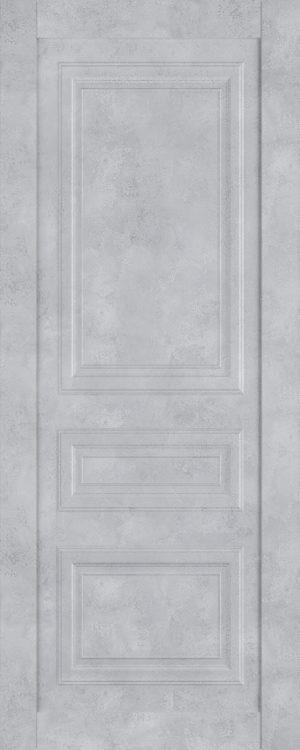 Дверь межкомнатная  Манхеттен, серия Манхеттен-1, 60, глухая, бетон серый Самострой stroi-base.ru