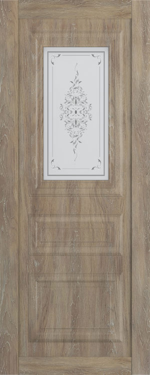 Дверь межкомнатная  Манхеттен, серия Манхеттен-1, 90, шале золотой, стекло с худ. печ. Самострой stroi-base.ru
