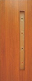 Дверь межкомнатная  ламинированная, Тип 3, 90, итальянский орех, стекло с фьюзингом Самострой stroi-base.ru
