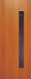 """Дверь межкомнатная  ламинированная, Тип 3, 90, итальянский орех, стекло с худ. печатью """"Лента"""" Самострой stroi-base.ru"""