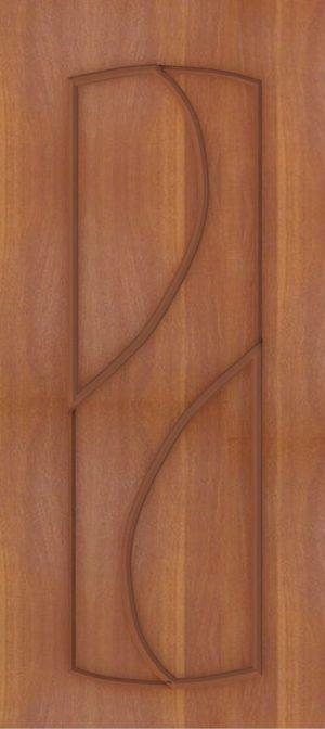 Дверь межкомнатная  ПВХ, Тип Фаина, 60, глухая, итальянский орех Самострой stroi-base.ru