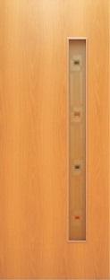 Дверь межкомнатная  ламинированная, Тип 3, 90, миланский орех, стекло с фьюзингом Самострой stroi-base.ru