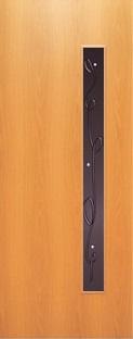 """Дверь межкомнатная  ламинированная, Тип 3, 80, миланский орех, стекло с худ. печатью """"Лента"""" Самострой stroi-base.ru"""