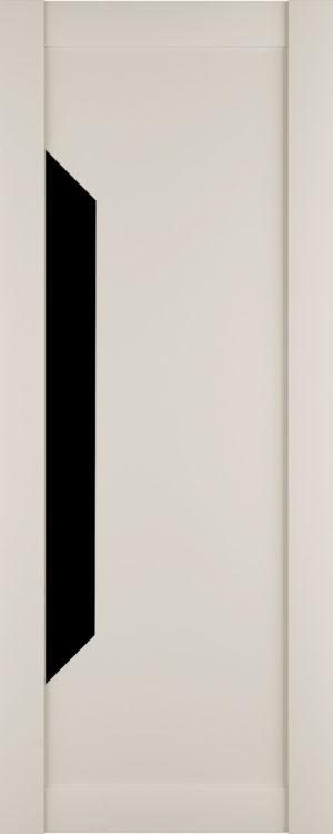 Дверь межкомнатная Престиж-1, Магнолия, Вставка: черное стекло Самострой stroi-base.ru