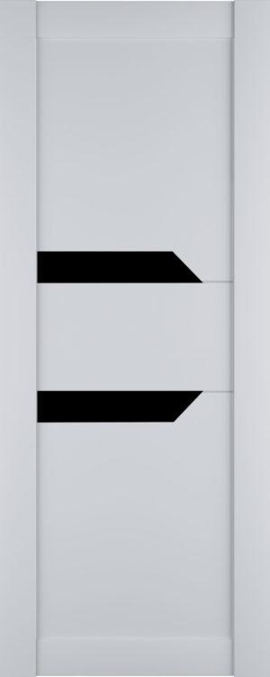 Дверь межкомнатная Престиж-2, Белый софт, Вставка: черное стекло Самострой stroi-base.ru