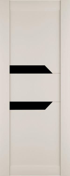 Дверь межкомнатная Престиж-2, Магнолия, Вставка: черное стекло Самострой stroi-base.ru