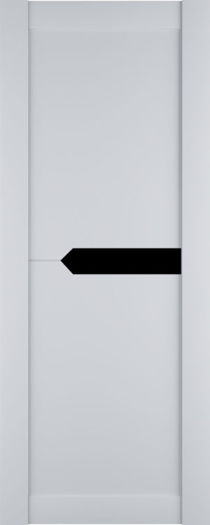 Дверь межкомнатная Престиж-3, Белый софт, Вставка: черное стекло Самострой stroi-base.ru