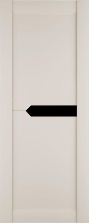 Дверь межкомнатная Престиж-3, Магнолия, Вставка: черное стекло Самострой stroi-base.ru