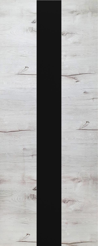 Дверь межкомнатная, Royal-3, 90, дуб арктика, стекло черное Самострой stroi-base.ru
