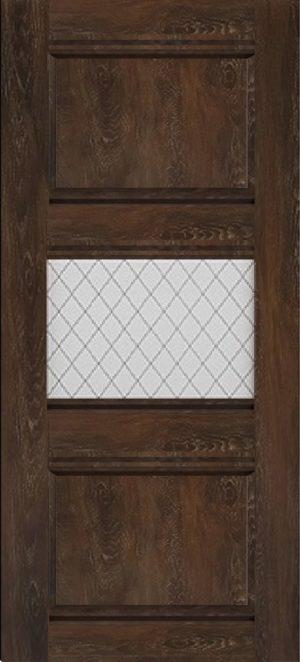 Дверь межкомнатная Корсика, 1 стекло, Шале мореный Самострой stroi-base.ru