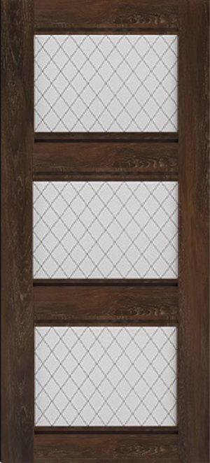 Дверь межкомнатная Корсика, 3 стекла, Шале мореный Самострой stroi-base.ru