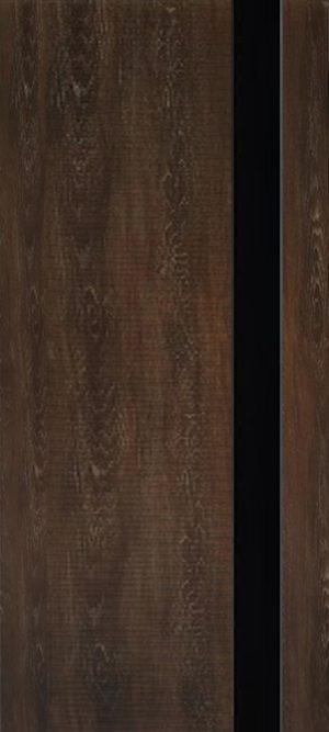 Дверь межкомнатная Палермо 3D, Стекло черное, Шале мореный Самострой stroi-base.ru