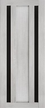 Дверь межкомнатная Техно 6-3D, Черное стекло, Шале серый Самострой stroi-base.ru