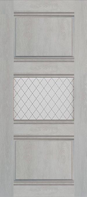 Дверь межкомнатная Корсика, 1 стекло, Шале серый Самострой stroi-base.ru