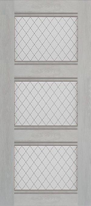 Дверь межкомнатная Корсика, 3 стекла, Шале серый Самострой stroi-base.ru
