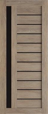 Дверь межкомнатная , Техно 14, 80, шале золотой, стекло черное Самострой stroi-base.ru
