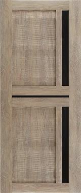 Дверь межкомнатная Техно 9-3D, Черное стекло, Шале золотой Самострой stroi-base.ru