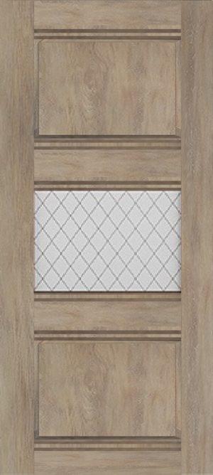 Дверь межкомнатная Корсика, 1 стекло, Шале золотой Самострой stroi-base.ru