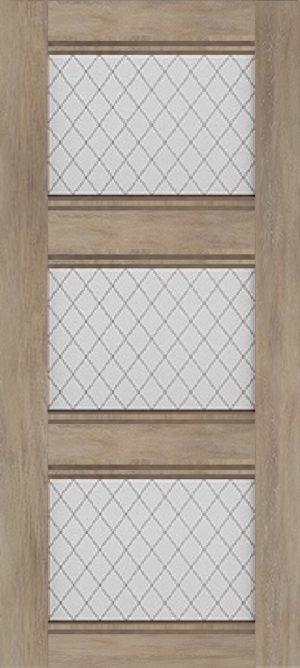 Дверь межкомнатная Корсика, 3 стекла, Шале золотой Самострой stroi-base.ru