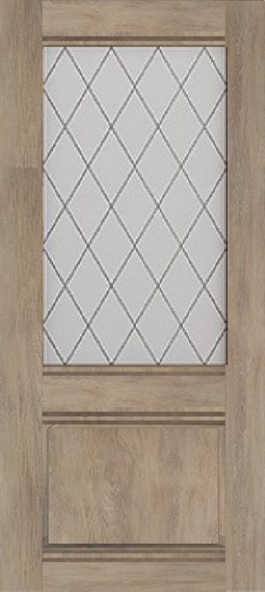 Дверь межкомнатная Венеция, Остекленная, Шале золотой Самострой stroi-base.ru