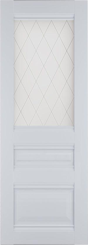 Дверь межкомнатная Венеция-2 Стекло, Белый Самострой stroi-base.ru