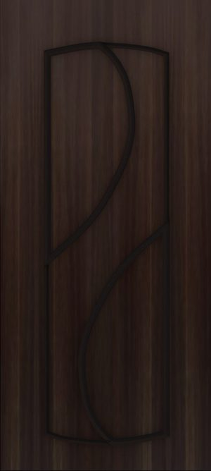 Дверь межкомнатная  ПВХ, Тип Фаина, 80, глухая, венге Самострой stroi-base.ru