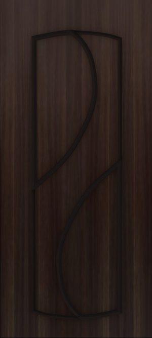 Дверь межкомнатная  ПВХ, Тип Фаина, 90, глухая, венге Самострой stroi-base.ru
