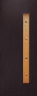 Дверь межкомнатная  ламинированная, Тип 3, 90, венге, стекло с фьюзингом Самострой stroi-base.ru