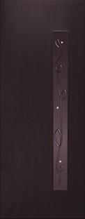 """Дверь межкомнатная  ламинированная, Тип 3, 90, венге, стекло с худ. печатью """"Лента"""" Самострой stroi-base.ru"""