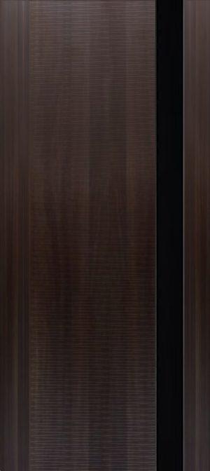 Дверь межкомнатная Палермо 3D, Стекло черное, Венге Самострой stroi-base.ru