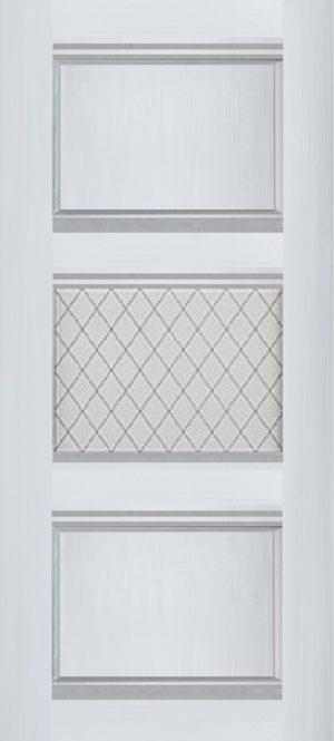 Дверь межкомнатная Корсика, 1 стекло, Ясень белый Самострой stroi-base.ru