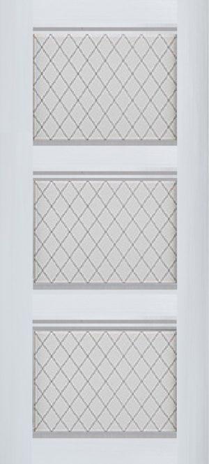 Дверь межкомнатная Корсика, 3 стекла, Ясень белый Самострой stroi-base.ru