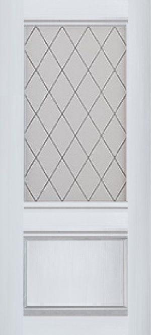 Дверь межкомнатная Венеция, Остекленная, Ясень белый Самострой stroi-base.ru