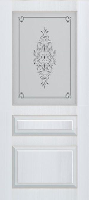 Дверь межкомнатная Прованс-2, Cтекло c художественной печатью, Белый ясень Самострой stroi-base.ru