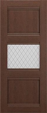 Дверь межкомнатная Корсика, 1 стекло, Коричневый ясень Самострой stroi-base.ru