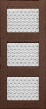 Дверь межкомнатная Корсика, 3 стекла, Коричневый ясень Самострой stroi-base.ru