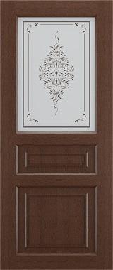 Дверь межкомнатная Прованс-2, Cтекло c художественной печатью, Коричневый ясень Самострой stroi-base.ru