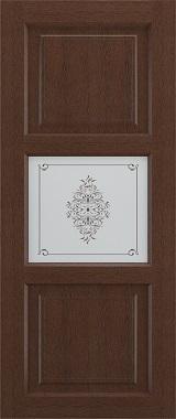 Дверь межкомнатная Прованс-4, Cтекло c художественной печатью, Коричневый ясень Самострой stroi-base.ru