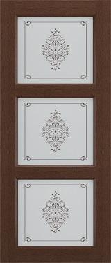 Дверь межкомнатная Прованс-5, Cтекло c художественной печатью, Коричневый ясень Самострой stroi-base.ru