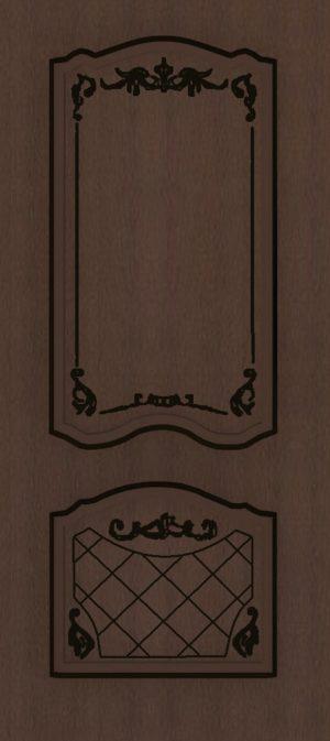 Дверь межкомнатная  с патиной, Тип Элегия, 80, глухая, ясень коричневый/черная патина Самострой stroi-base.ru