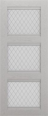 Дверь межкомнатная Корсика, 3 стекла, Серый ясень Самострой stroi-base.ru