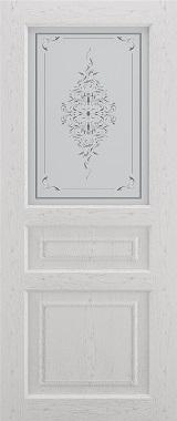 Дверь межкомнатная Прованс-2, Cтекло c художественной печатью, Серый ясень Самострой stroi-base.ru