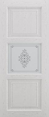 Дверь межкомнатная Прованс-4, Cтекло c художественной печатью, Серый ясень Самострой stroi-base.ru