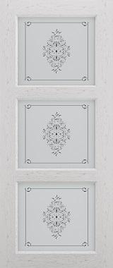 Дверь межкомнатная Прованс-5, Cтекло c художественной печатью, Серый ясень Самострой stroi-base.ru